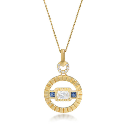 Etta Gold Necklace In Blue