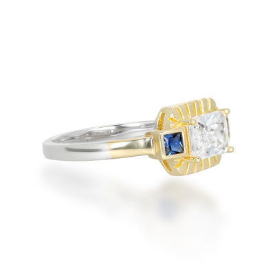 Etta Gold Ring In Blue