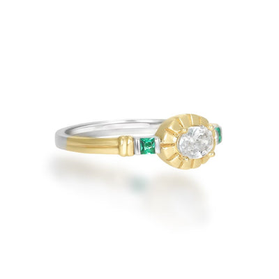 Freya Green Gold Ring