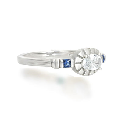 Freya Silver Ring In Blue