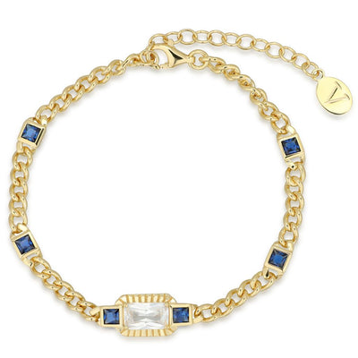 Etta Gold Bracelet In Blue