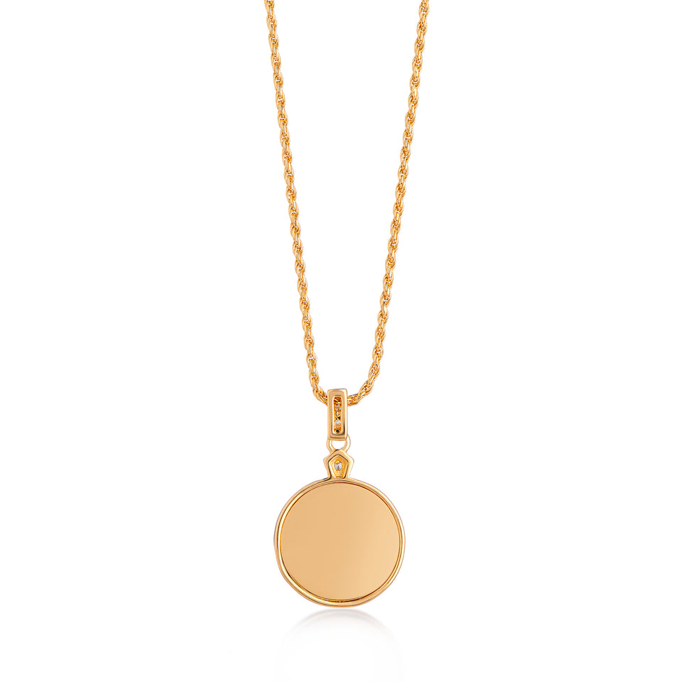 Edie Gold Necklace in Pearl on Rope Chain