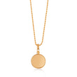 Edie Gold Pearl Necklace on Rope Chain