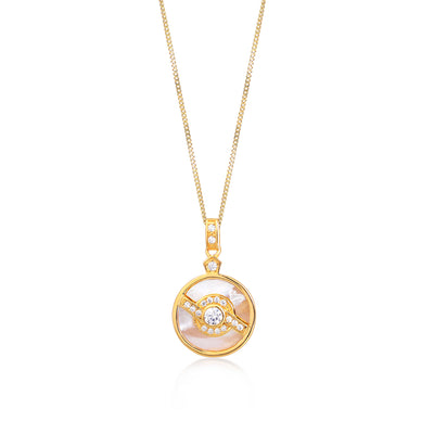 Edie Gold Pearl Necklace