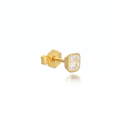Isla Gold Stud Earrings Earrings V by Laura Vann