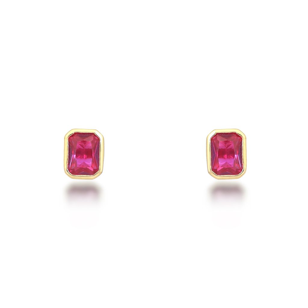 Isla Red Stud Earrings Earrings V by Laura Vann