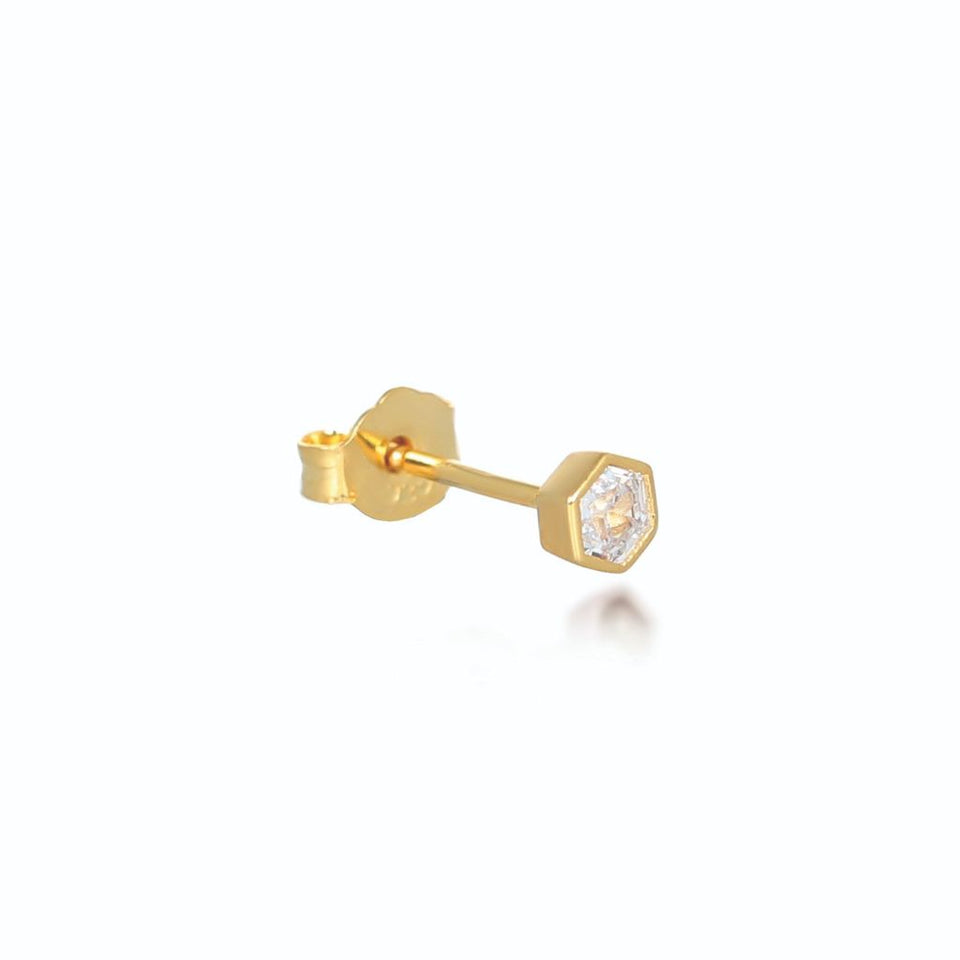 Tia Gold Stud Earrings Earrings V by Laura Vann