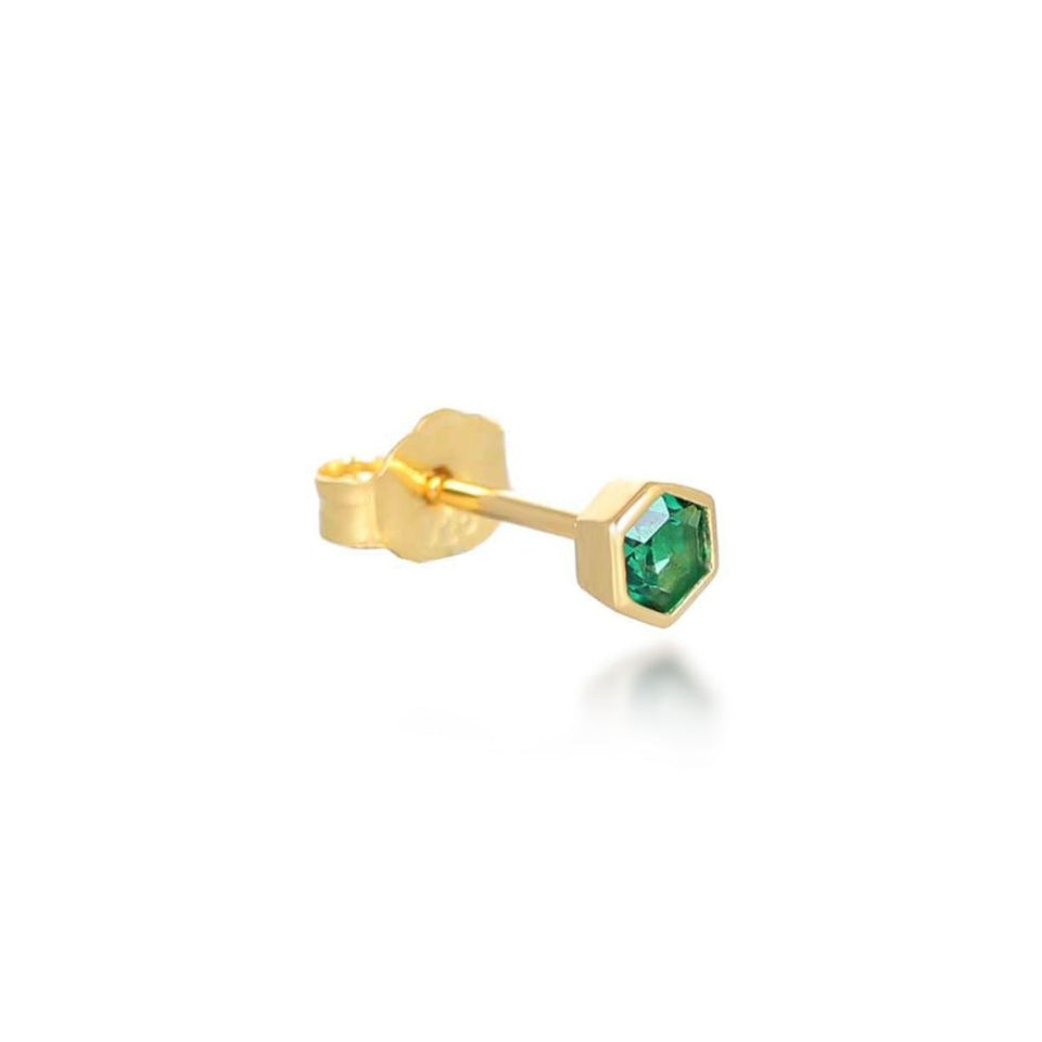 Tia Green Stud Earrings