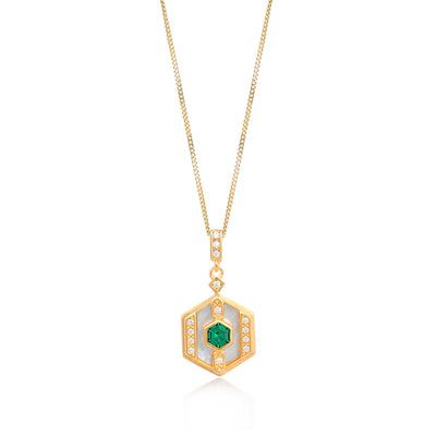 Darcy Gold Necklace in Green