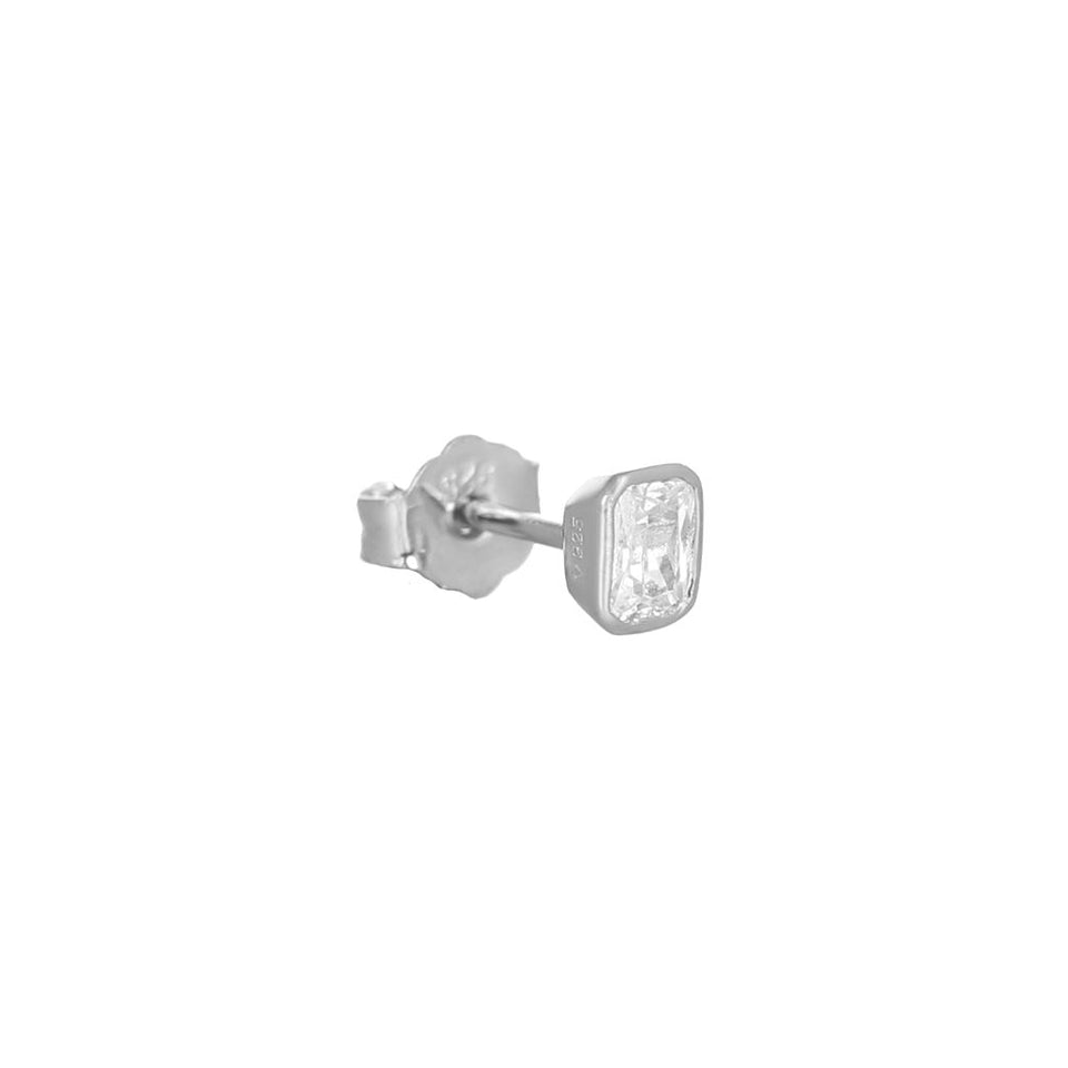 Isla Silver Stud Earrings Earrings V by Laura Vann
