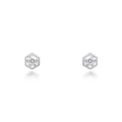 Tia Silver Stud Earrings