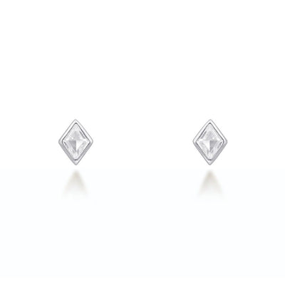 Lou Silver Stud Earrings Earrings V by Laura Vann