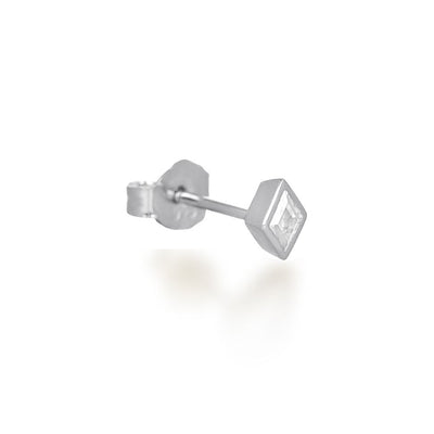 Lou Silver Stud Earrings