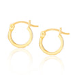 Iris Gold Hoops + Rhombus Charms