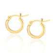Combo: Lena Gold Hoops + Elongated Hex Charms in Tanzenite Blue