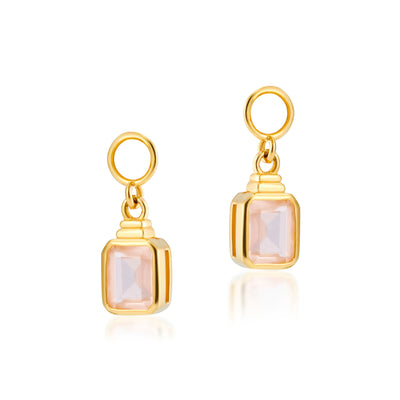 Emerald Cut Charms in Apricot