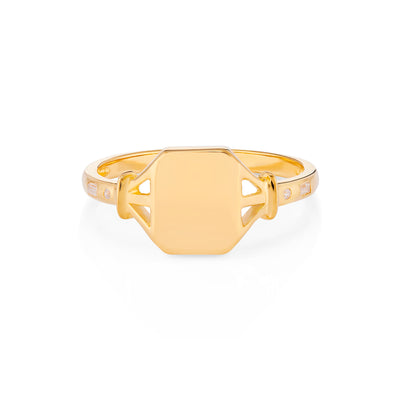 Jean Gold Signet Ring