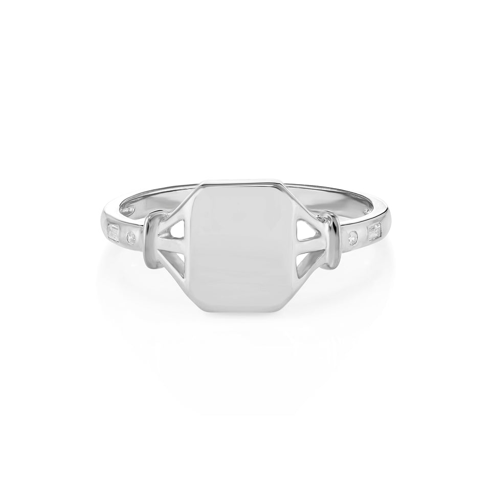 Jean Silver Signet Ring