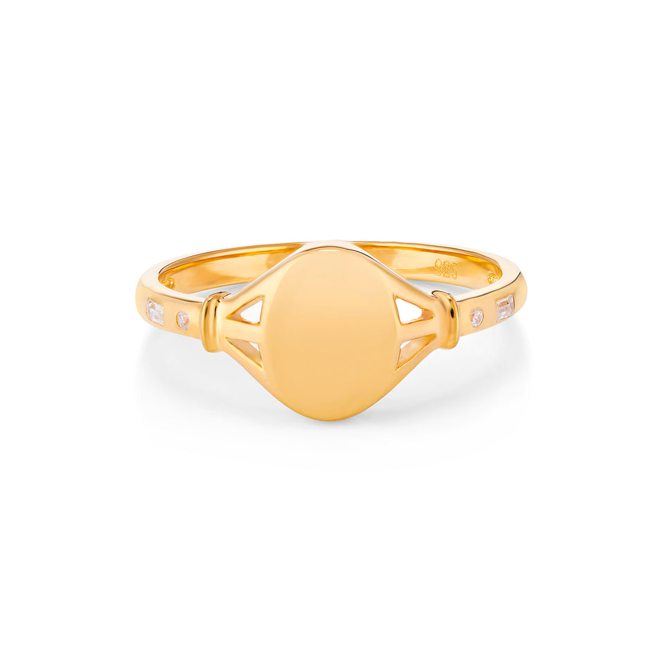 Tilly Gold Signet Ring