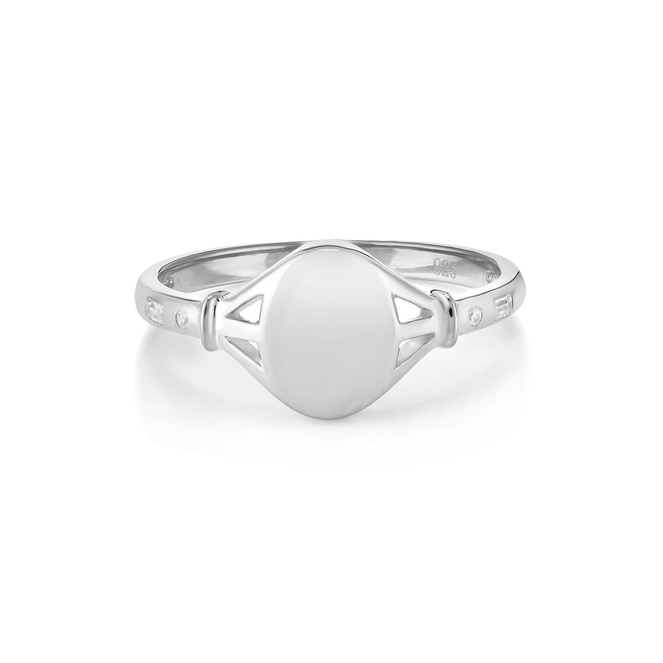 Tilly Silver Signet Ring