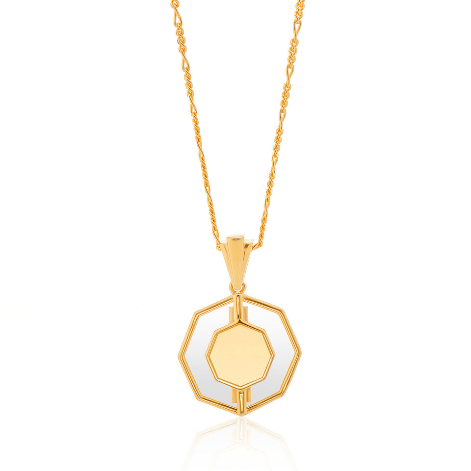 Kim Glass Necklace in Gold