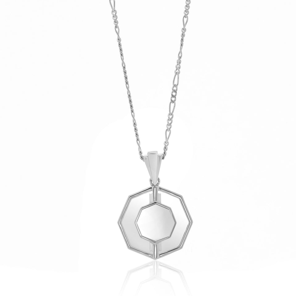 Kim Glass Necklace in Silver