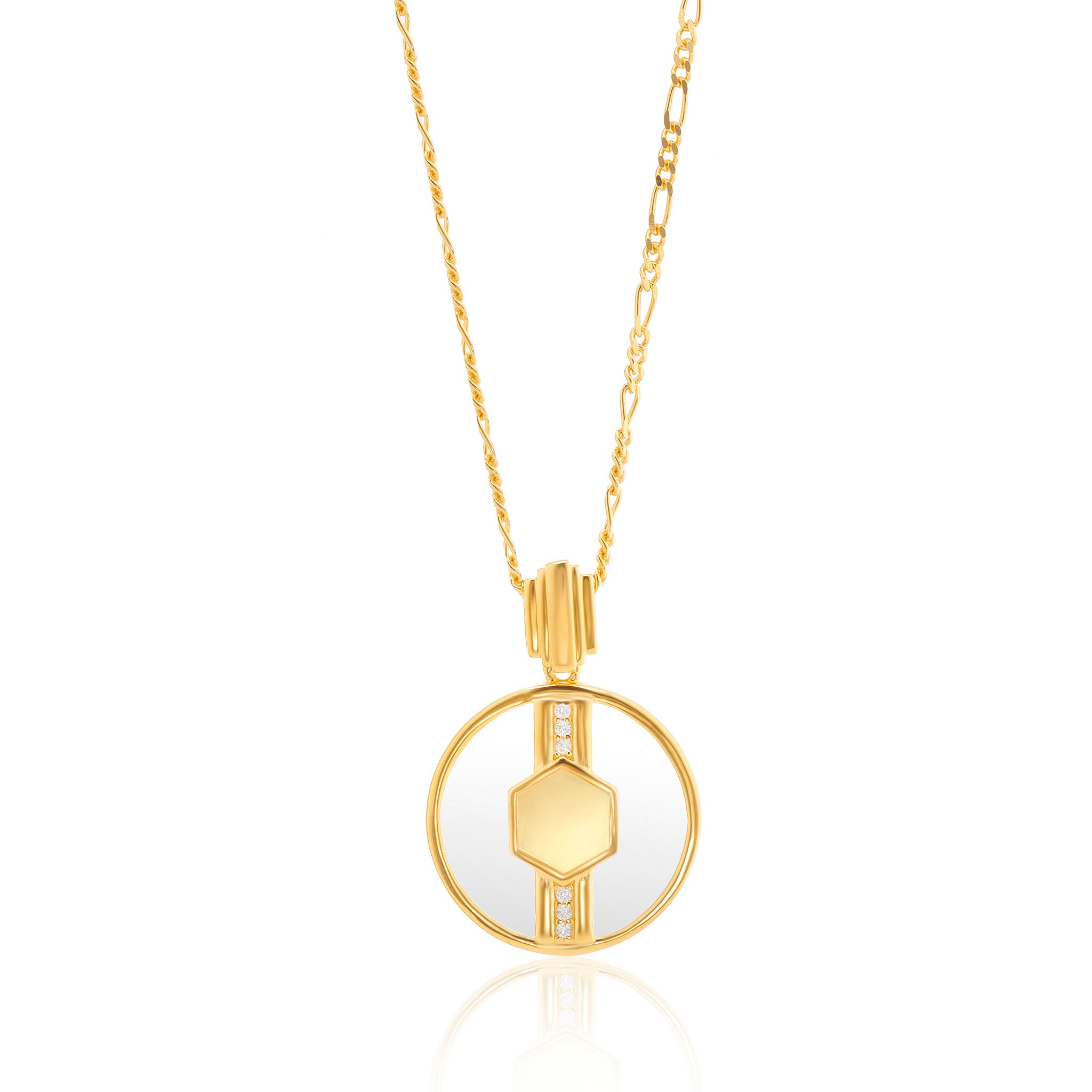 Cindy Glass Necklace in Gold