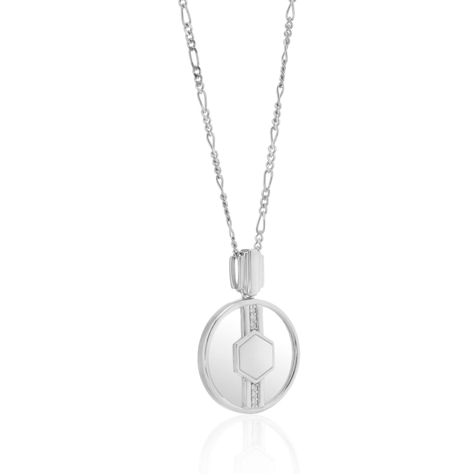 Cindy Glass Necklace in Silver