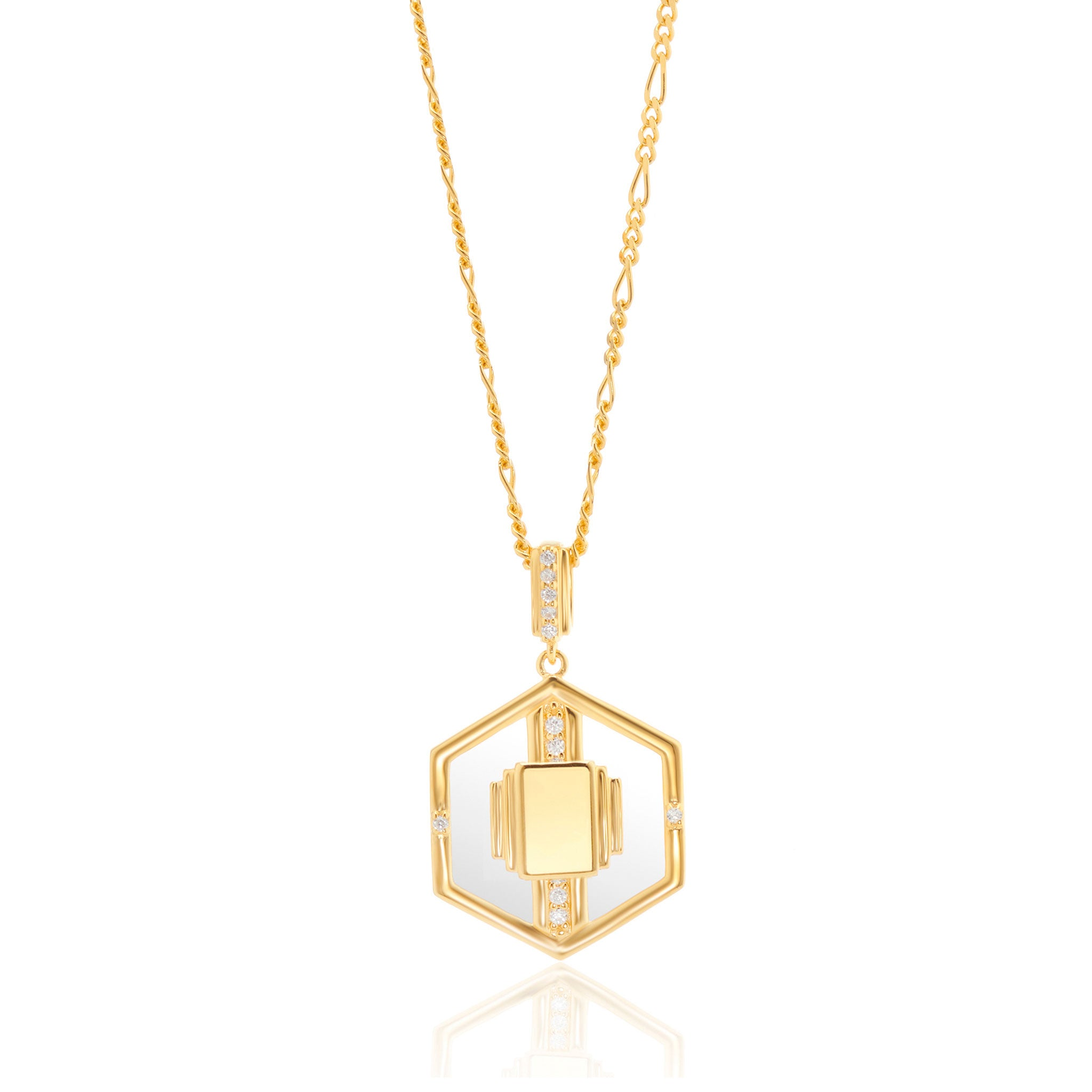 Goldie Glass Necklace in Gold