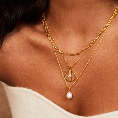 Vivica Glass Necklace in Gold