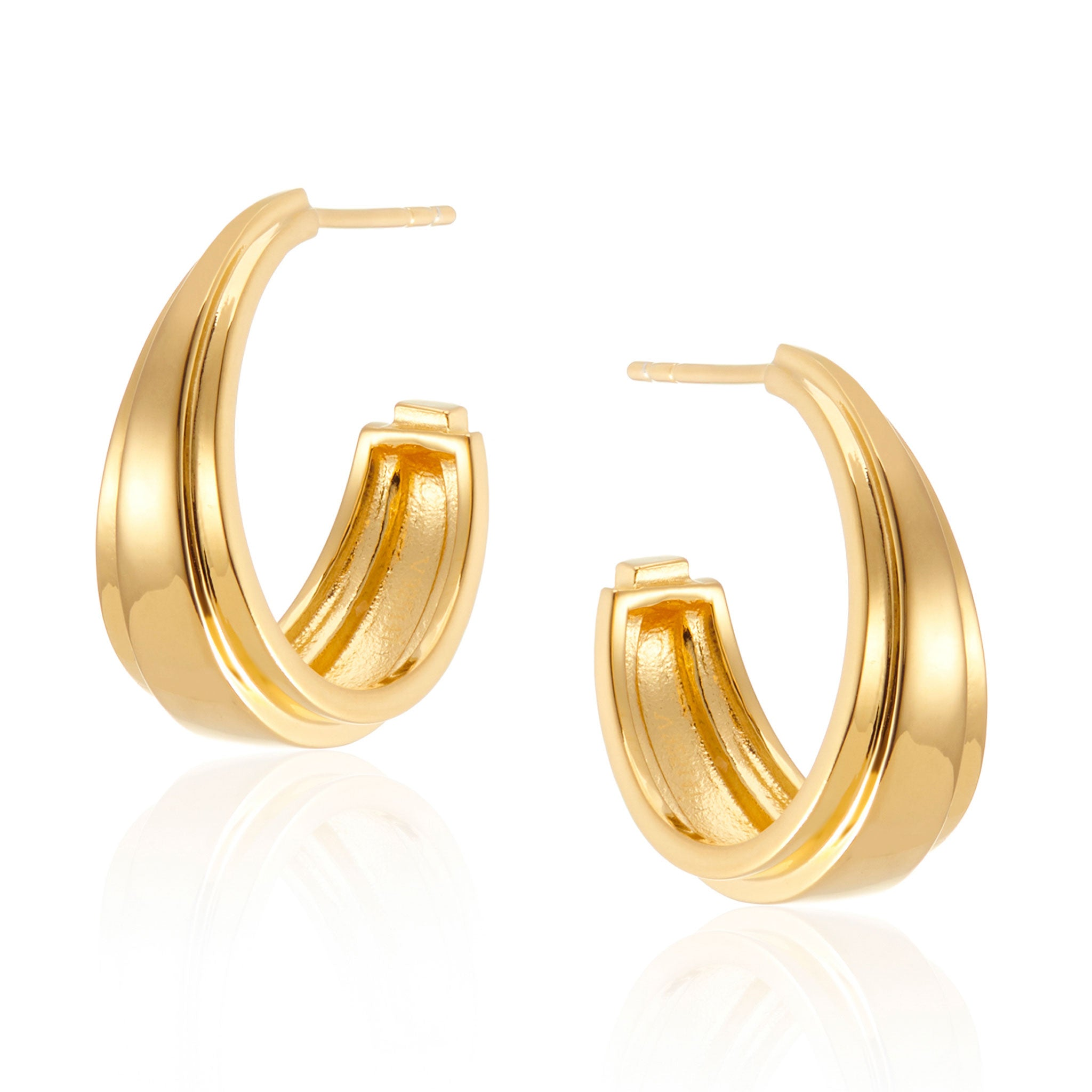 Angelina Chunky Hoop Earrings in Gold