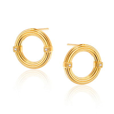 Brooke Forward Hoops in Gold