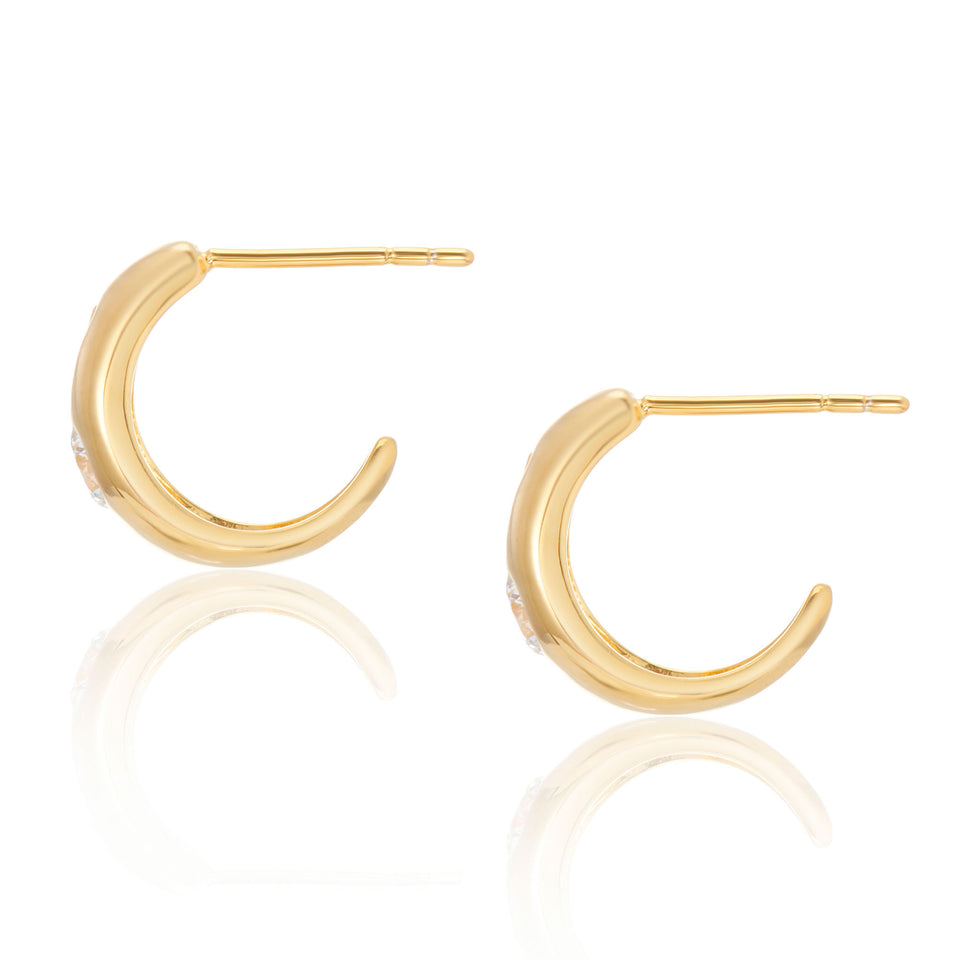 Tina Small Chubby Hoops in Gold