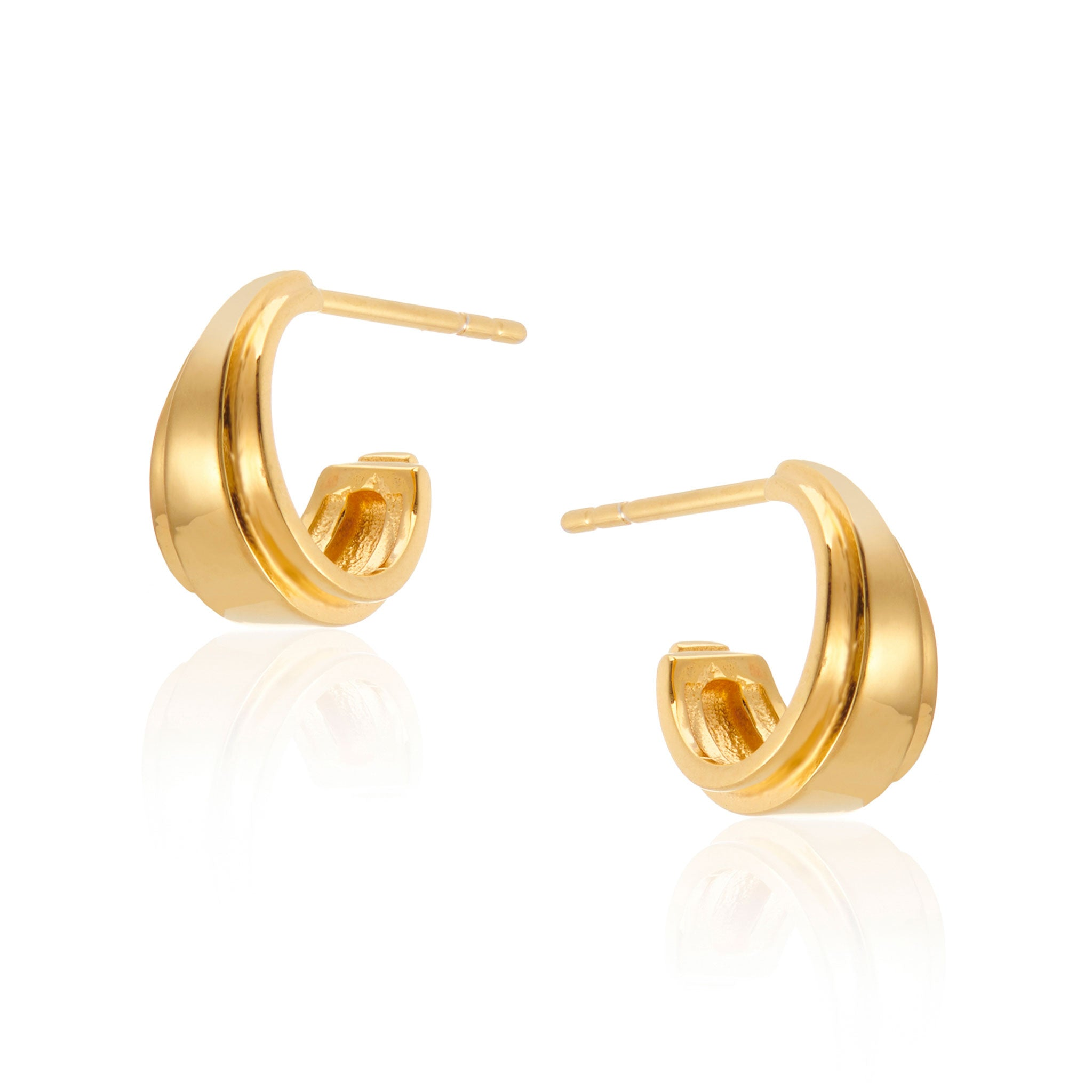 Angelina Mini Hoop Earrings in Gold