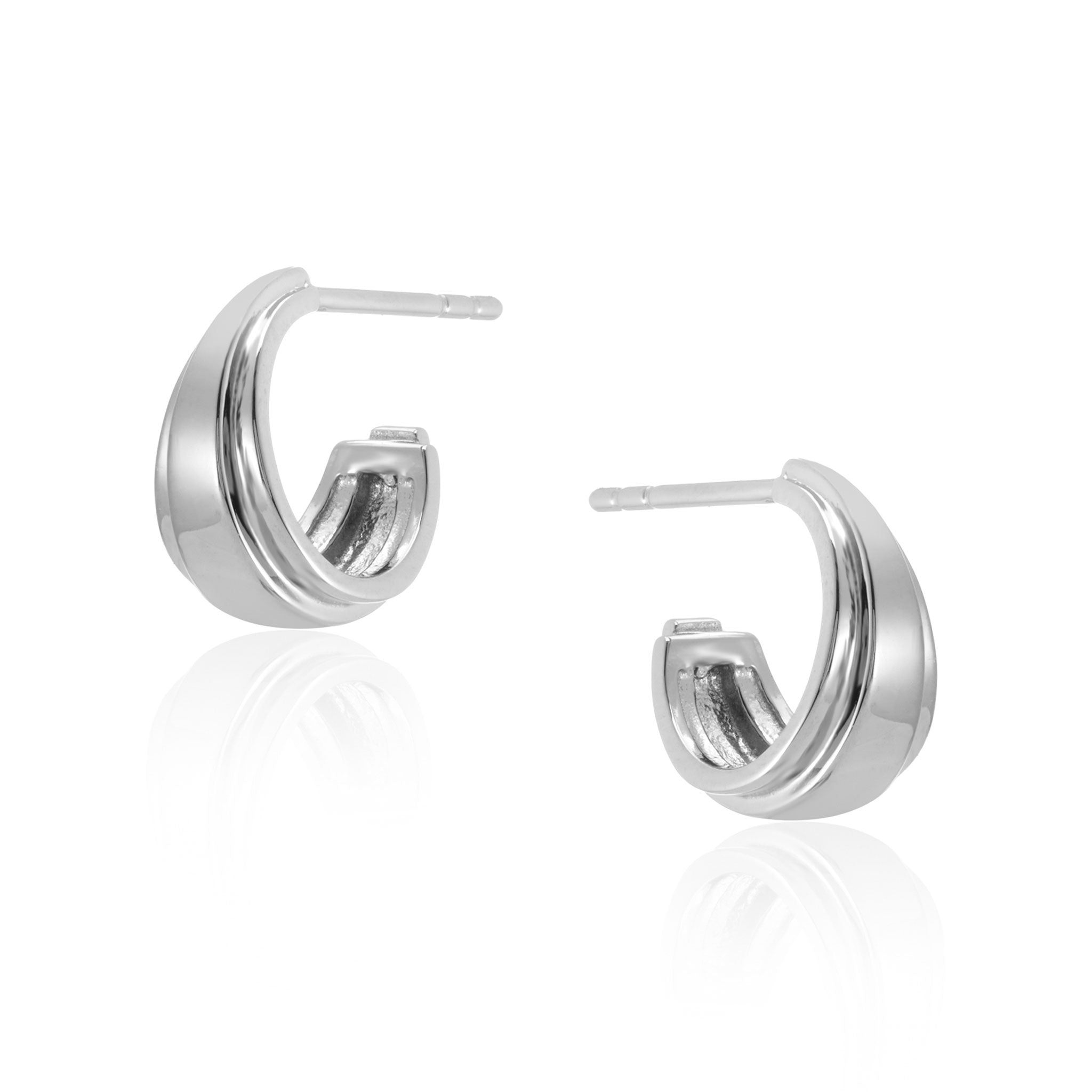 Angelina Mini Hoop Earrings in Silver