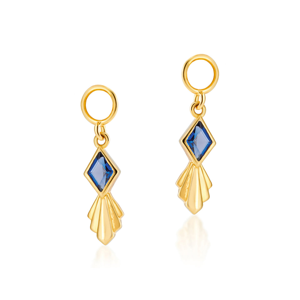 Rhombus Charms in Sapphire Blue