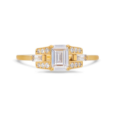 PACK: Emerald Cut Buckle Ring
