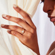 Emerald Cut Buckle Ring in White Gold engagement ring v by laura vann