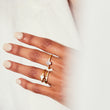 Illusion bullet & oval cut diamond ring in yellow gold engagement ring v by laura vann
