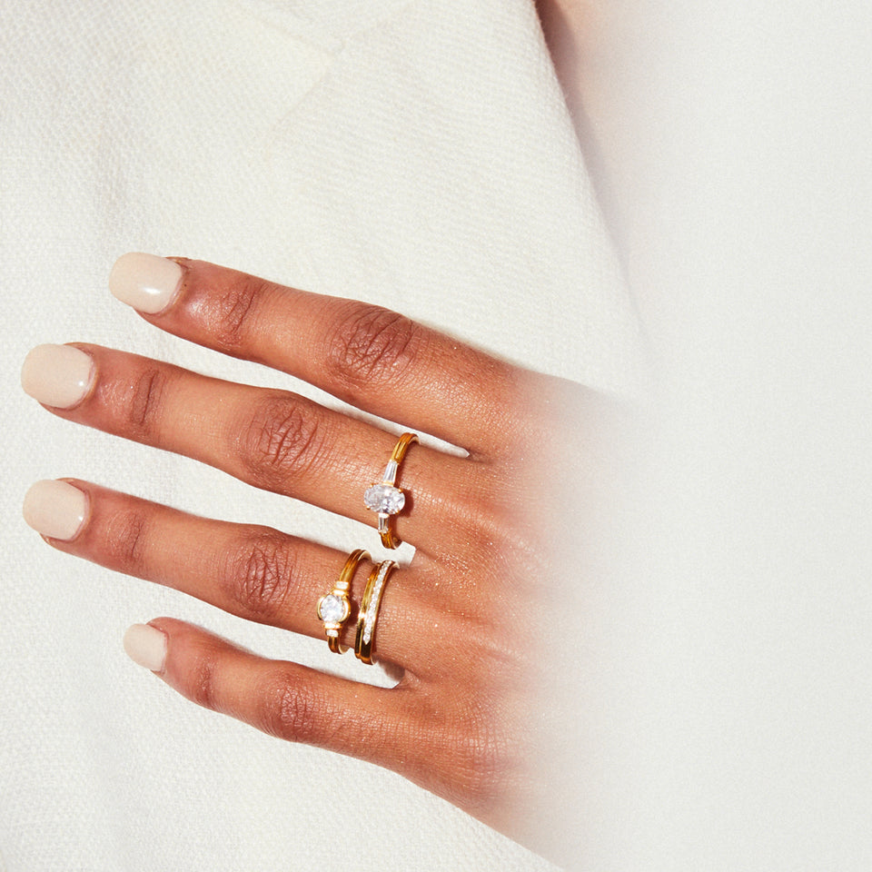 PACK: Gold Pillar Ring