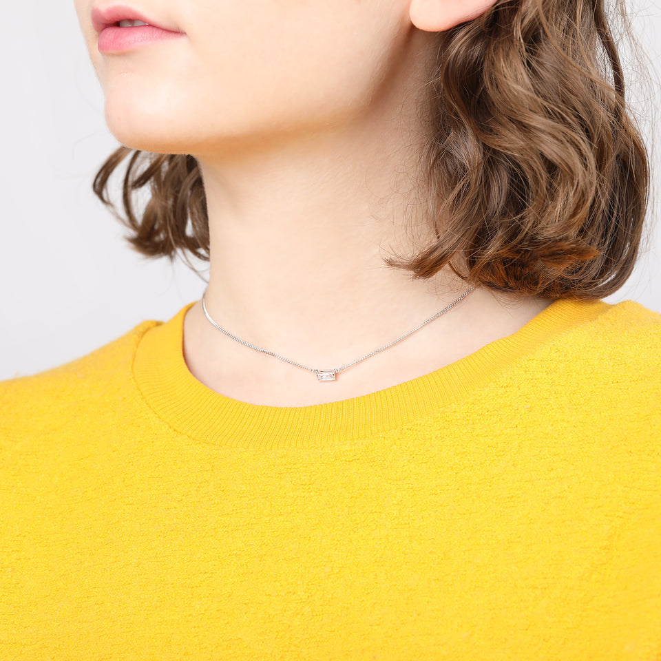 Agata Silver Choker Necklace