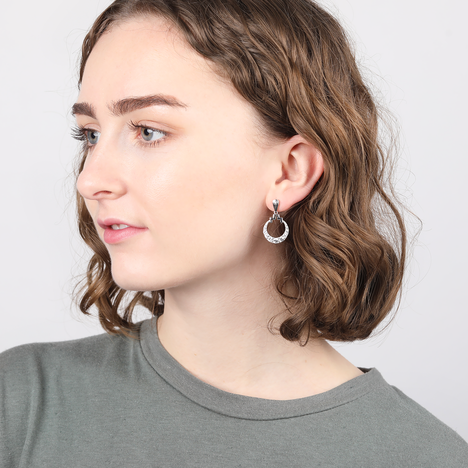 Bianca Sterling Silver Drop Earrings