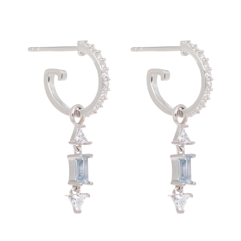 Christie Droppers on Silver Hoop Earrings