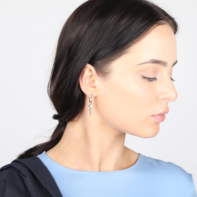 Bonnie Droppers on Sterling Silver Mini Hoop Earrings