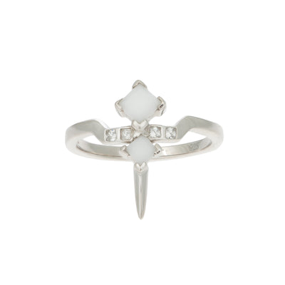 Bonnie Sterling Silver White Ceramic Ring