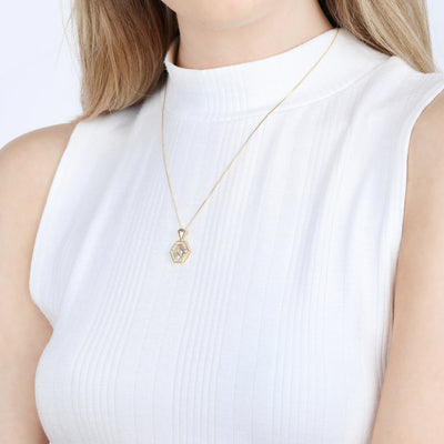 Esme Gold Necklace in Pearl