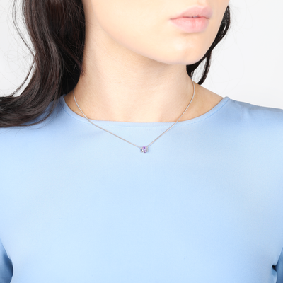 Joan Choker / Short Necklace in Lavender
