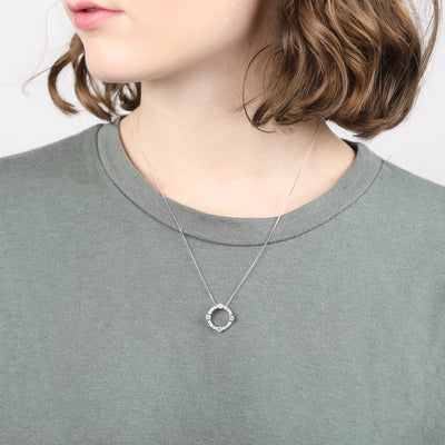 Luna Sterling Silver Circle Necklace