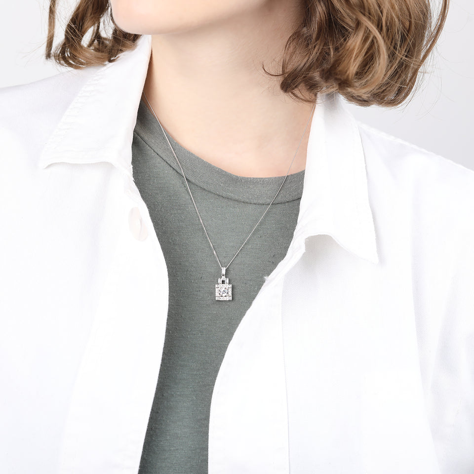 Odette Sterling Silver Square Necklace