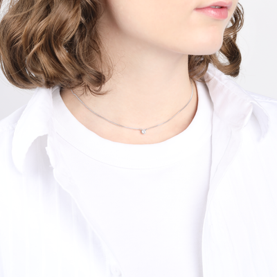 Ophelia Sterling Silver Short Choker Necklace